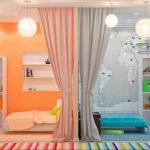 Кровать для подростка и зонирование пространства общей детской комнаты