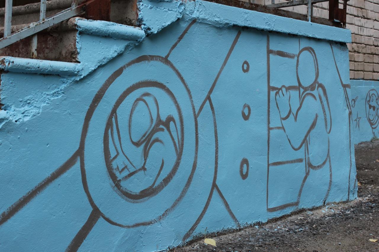 Тюменцы сделали из школы арт-объект – фото
