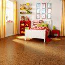 Пробковый пол для детской комнаты.