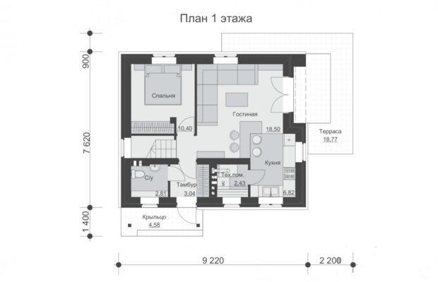 ТОП 11 проектов домов из пеноблоков с мансардой