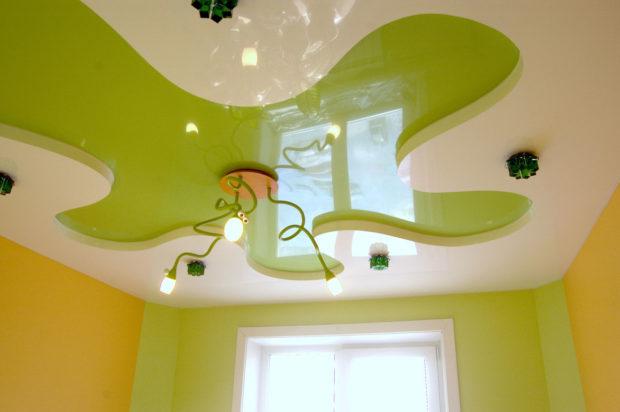 Двухуровневые натяжные потолки: все что нужно знать (+55 фото)