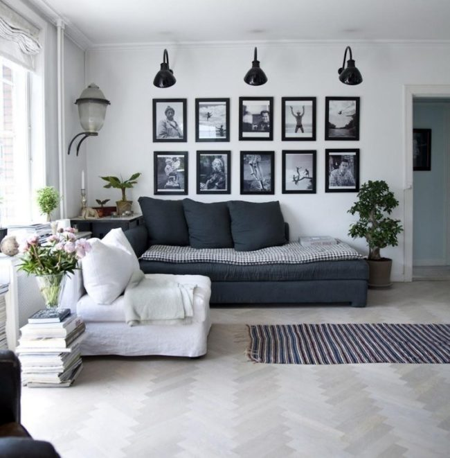 28 идей, как украсить пустую стену + фото