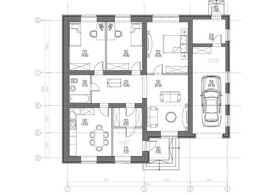 ТОП 10 проектов одноэтажных домов из кирпича