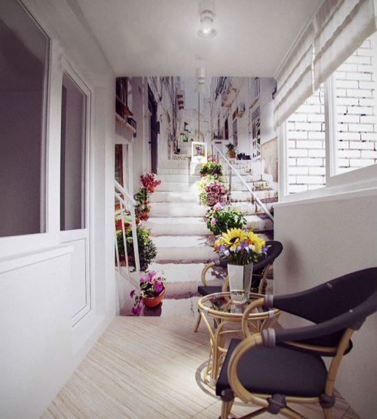Обои на балконе и лоджии: 9 советов по выбору